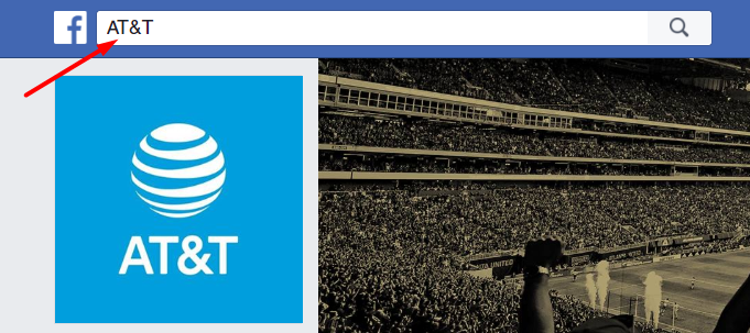 AT&T on Facebook Search