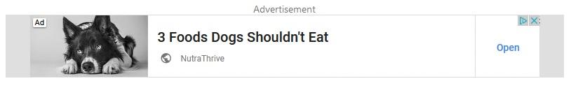 Dog Food ad on the display network.