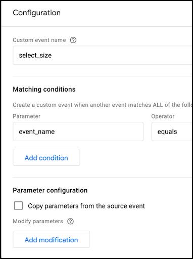 Google Analytics custom event configuration