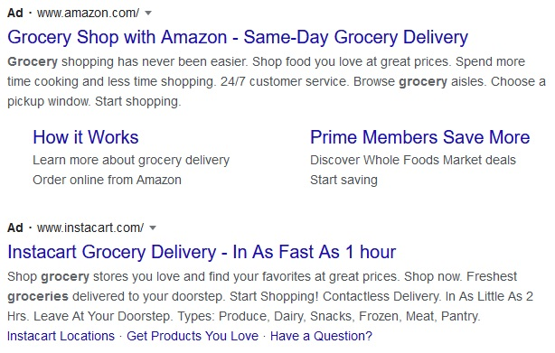 Grocery Ads on Google